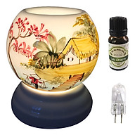 Combo tinh dầu sả chanh Eco oil 10ml cùng đèn xông tinh dầu MNB18 và 1 bóng đèn thumbnail