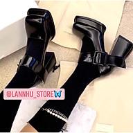 Giày oxford cách điệu đế trụ vuông 9cm siêu chắc chân(ảnh thật) thumbnail