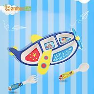 Bộ chén bát ăn dặm cho bé từ sợi tre thiên Bamboo Life BBL07B thumbnail