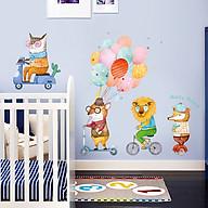Decal dán tường trang trí phòng ngủ, lớp mầm non- Cáo cầm bóng bay sắc màu- mã sp DQR9187 thumbnail