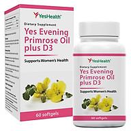 [Nhập khẩu New Zealand] Thực phẩm bảo vệ sức khỏe Yes Health Yes Evening Primrose Oil plus D3 [Hộp 60 viên] - Viên uống hỗ trợ chống oxi hóa và làm đẹp da thumbnail