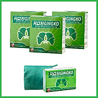 Combo 3 hộp TPCN hỗ trợ tuần hoàn não Robgingko Hộp 100 viên_ Robinson Pharma Usa__TẶNG 1 HỘP 30 VIÊN VÀ 1 ÁO MƯA DÙ CAO CẤP thumbnail