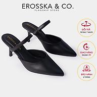 Dép su c cao gót thời trang Erosska quai ma nh phong ca ch Ha n Quô c cao 8cm EM073 thumbnail
