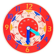 Đồ Chơi Gỗ Thông Minh Đồng Hồ Học Đếm Và Xem Giờ Tặng Kèm Bộ 40 Thẻ Học Viết Chữ Và Số (màu ngẫu nhiên) thumbnail