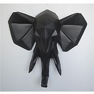 Tượng voi treo tường màu đen thumbnail