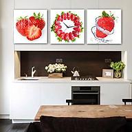 Tranh treo tường, tranh đồng hồ Nt116 bộ 3 tấm ghép thumbnail