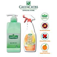 GREEN CROSS GEL - Combo 8 Chai Gel Rửa Tay GREEN CROSS dung tích 500ml chai TẶNG KÈM 3 Green Cross A2 500ml chai thumbnail