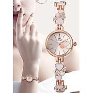 Đồng hồ nữ dây họa tiết trái tim SOXY mặt tròn xinh xắn SX09 thumbnail