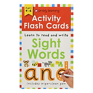 Activity Flash Cards Sight Words - Activity Flash Cards (Paperback) thumbnail