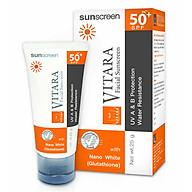 Kem Chống Nắng, Làm Trắng Da Vitara Sunscreen Spf 50+, Pa++ - BER13 (25g) thumbnail