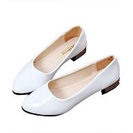 Giày búp bê da bóng mềm dáng chuẩn -304 Trắng thumbnail