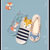 Set hộp 3 đôi tất nữ NICESOKS -NS518393FS chất liệu cotton cao cấp, ngắn cổ thể thao, họa tiết cute , hàng chính hãng thumbnail