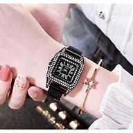 Đồng hồ thời trang nữ D41 dây lưới nam châm mặt vuông đính đá cực đẹp SC873 thumbnail