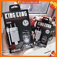 Bộ sạc nhanh KING KONG 2 cổng sạc USB dành cho samsung, iphone, tye c - Hàng chính hãng thumbnail
