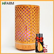 Combo máy khuếch tán máy xông tinh dầu hình Trụ Lưới N Farm NF2065 + tinh dầu cam hương N Farm(10ml) thumbnail