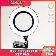 Bộ Đèn Livestream LIVE Kẹp Cạnh Bàn Kẹp Màn Hình Laptop selfie .. thumbnail