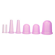 7pcs 4 sizes Silicone Massage Cup Facial Cupping Cup Vacuum Cupping Body Pain Relief Face Eye Care Treatment Manual thumbnail