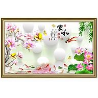 Tranh dán tường cửu ngư quần hội bên hoa mẫu đơn NewLuna_0033K thumbnail