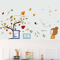 Decal dán tường hình lá phong cho bé XL7202 thumbnail