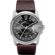 Diesel Men s Master Chief Quartz Stainless Steel and Leather Casual Watch, Color Silver-Tone, Brown (Model DZ1206) thumbnail
