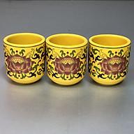 Combo 3 Ly nước thờ bằng sứ gấm vàng sen DA12069 thumbnail