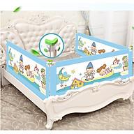 Thanh chắn giường màu xanh - mẫu trượt cao 90cm thumbnail