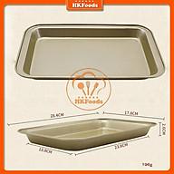 Khay chống dính hình chữ nhật dùng nướng bánh 28x18x2cm thumbnail