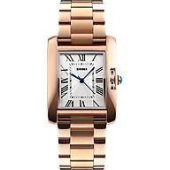 Đồng hồ thời trang nữ dây thép không gỉ viền đá cao cấp Skmei 1284 thumbnail