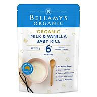 Bột Dinh Dưỡng Ăn Dặm Hữu Cơ Gạo, Sữa, Vanilla Bellamy s Organic (125g) thumbnail