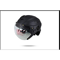 Mũ Bảo Hiểm nửa đầu có kính A760K Mũ SRT kính liền - Hàng cao cấp thumbnail