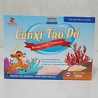 Siro CANXI TẢO ĐỎ bổ sung canxi và vitamin D3 giúp xương chắc khỏe, nguyên liệu nhập khẩu Châu Âu, hộp 20 ống thumbnail