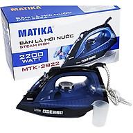 Bàn ủi hơi nước, bàn là hơi nước cao cấp Matika chọn phân loại, mặt đế phủ chống dính - màu ngẫu nhiên-Hàng chính hãng thumbnail