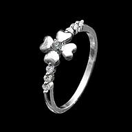 Nhẫn Nữ Bạc Hiểu Minh NU483 - Cỏ 4 Lá May Mắn - Bảo Hành Vĩnh Viễn ( Hàng Chính Hãng ) thumbnail