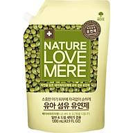 Nước Xả Dịu Nhẹ Cho Bé Nature Love Mere Mung Bean Túi 1.3L thumbnail