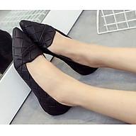 Giày Búp Bê Bít Mũi Da Đan Đế Bệt Thời Trang Cao Cấp NineRed BM001 thumbnail