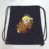 Balo dây rút đen in hình NARUTO anime chibi M2 túi rút đi học xinh xắn thời trang thumbnail