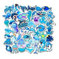 Bộ 49 Sticker Chủ Đề Màu Xanh Dán Vali, Mũ Bảo Hiểm, Điện Thoại, Laptop, Macbook - Hàng Nhập Khẩu thumbnail