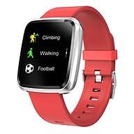 Đồng hồ thông minh theo dõi sức khỏe smartwatch Colmi Y7P dây cao su (Đỏ) - Hàng chính hãng thumbnail