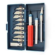 Bộ dao khắc thủ công 13 món (Tặng kèm 02 nút kẹp giữ dây điện) thumbnail