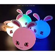 Đèn ngủ silicone hình thỏ dễ thương cảm ứng đổi màu thumbnail