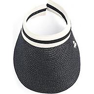 Mũ cói lưỡi trai nửa đầu chống nắng phù hợp đi chơi, đi biển (Màu đen) thumbnail
