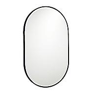 Gương phòng tắm oval viền sắt thumbnail