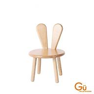 Ghế gỗ cho bé,ghế học sinh mầm non GU DECOR ghế trẻ em tai thỏ chất liệu Gỗ thông thumbnail