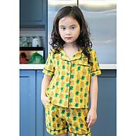 Bộ Pijama bé gái màu vàng hình quả dứa thumbnail