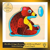 Tranh Ghép Hình Gỗ 3D Cho Bé (11x11 cm) Montessori cao cấp Đồ chơi Gỗ - Giáo dục - An toàn - Thông minh thumbnail