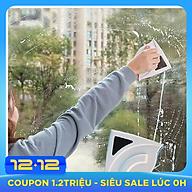 Miếng lau kính 2 mặt nam châm, dụng cụ lau kính nam châm cho nhà cao tầng thumbnail