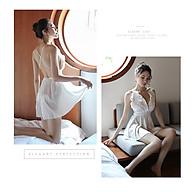 Che Tên - Đầm Ngủ Hở Lưng Big Size Tặng Quần Lọt Khe Erotic Lingerie Sleepwear pajamas BCS21 T 1115 thumbnail