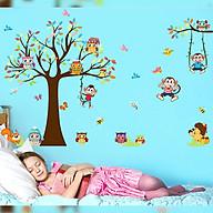 Decal dán tường trang trí phòng ngủ, lớp mầm non- Vườn khỉ- mã sp DXL8192 thumbnail