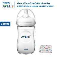 Bình sữa Avent cho bé 260ml. Bình Sữa Mô Phỏng Tự Nhiên Philips Avent. Tặng kèm tấm lót chống thấm cho bé. thumbnail