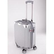 Vali kéo du lịch 841 nhựa ABS chịu lực tốt - Bạc thumbnail